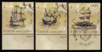 Cyprus Stamps SG 1251-53 2011 Tall Ships - CTO USED (e210)