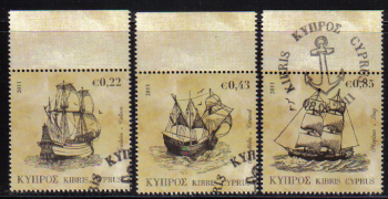 Cyprus Stamps SG 1251-53 2011 Tall Ships - CTO USED (e208)