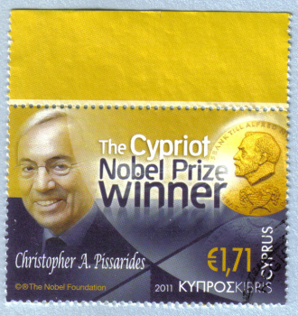 Cyprus Stamps SG 1254 2011 Christopher Pissarides Cypriot Nobel Prize Winner - USED (h884)