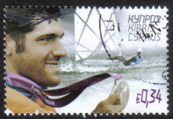 Cyprus Stamps SG 1286 2012 London Olympic Games Cypriot silver medal winner Pavlos Kontides for sailing - USED (h424)