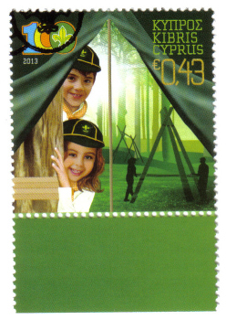 Cyprus Stamps SG 1292 2013 Cyprus Scouts Association Centenary - CTO USED (h444)