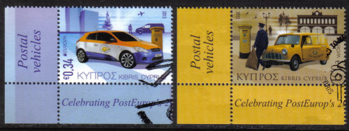 Cyprus Stamps SG 2013 (e) Europa issue Postal Vehicles  - CTO USED (h488)