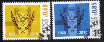 Cyprus Stamps SG 1210-11 2010 50th Anniversary of the Republic of Cyprus - USED (d825)