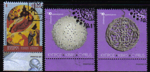 Cyprus Stamps SG 1233-35 2010 Christmas - CTO USED (d429)