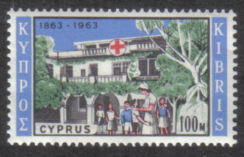 Cyprus Stamps SG 233 1962 100 Mils - MINT