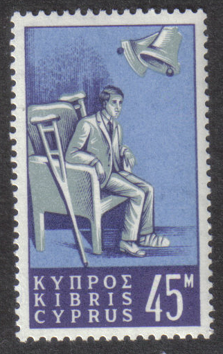 Cyprus Stamps SG 260 1965 45 Mils - MINT
