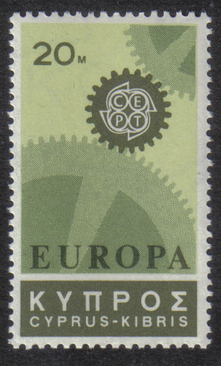 Cyprus Stamps SG 302 1967 20 Mils - MINT