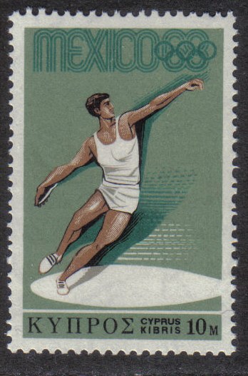 Cyprus Stamps SG 324 1968 10 Mils - MINT