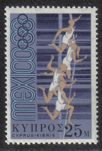 Cyprus Stamps SG 325 1968 25 Mils - MINT