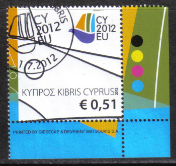 Cyprus Stamps SG 1279 2012 Cyprus Presidency of the Council of the EU - CTO USED (h887)