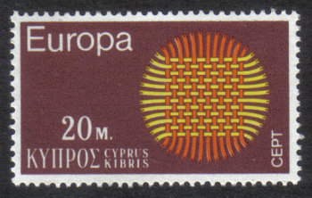 Cyprus Stamps SG 345 1970 20 Mils - MINT