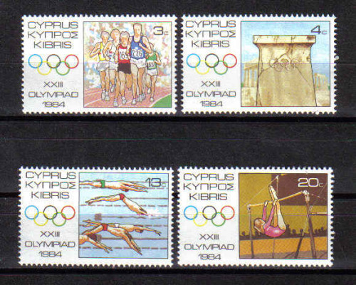 Cyprus Stamps SG 635-38 1984 Los Angeles Olympic Games USA - MINT
