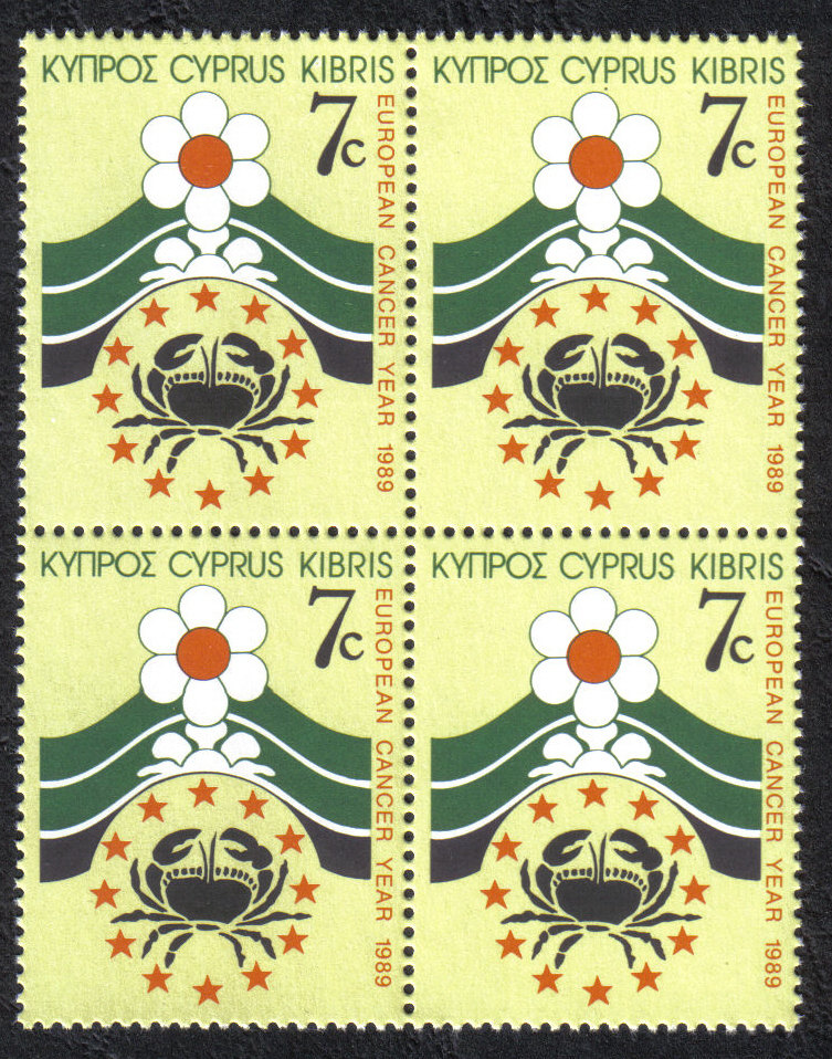 Cyprus Stamps SG 754 1989 7c - Block of 4 MINT