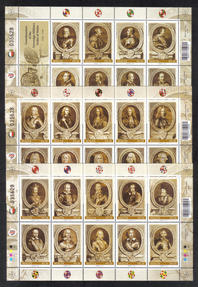 Malta Stamps SG 2014 Grandmasters of the Soverain Military Order - MINT