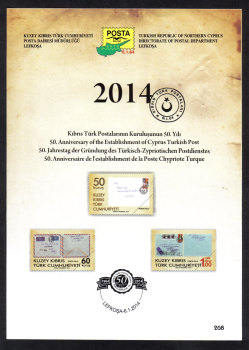 North Cyprus Stamps Leaflet 268 2014 Anniversaries and Events
