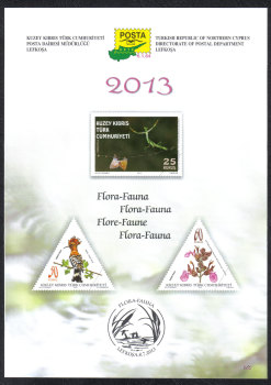 North Cyprus Stamps Leaflet 265 2013 Flora & Fauna