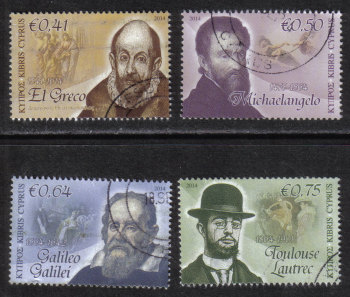 Cyprus Stamps SG 1322-25 2014 Intellectual Pioneers - USED (h910)