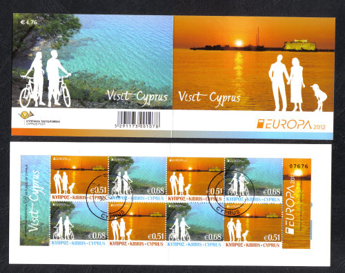 Cyprus Stamps SG 2012 (e) Europa Visit Cyprus - Booklet CTO USED (h925)