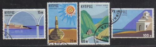 Cyprus Stamps SG 378-81 1971 Tourism - USED (e350)