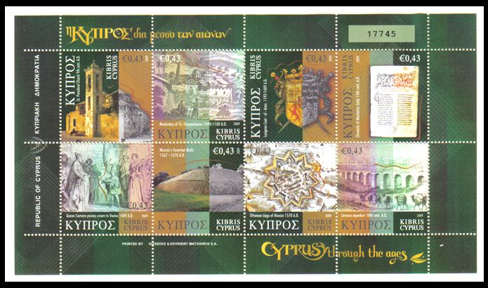 Cyprus Through The Ages stamps SG 1198-1205 2009