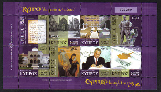 Cyprus Through the Ages stamps SG 1225-32 2010