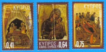Cyprus Stamps SG 1359-61 2014 Christmas Icons - MINT