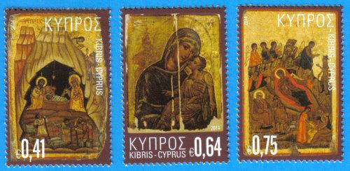 Cyprus Stamps SG 2014 (i) Christmas Icons - MINT