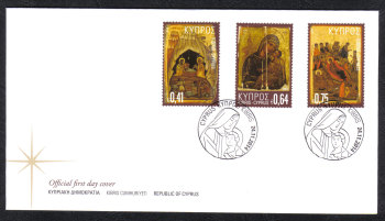 Cyprus Stamps SG 1359-61 2014 Christmas Icons - Official FDC