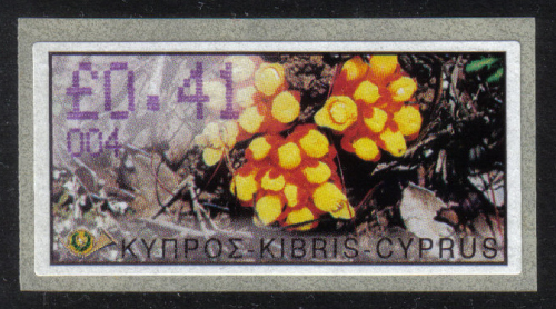 Cyprus Stamps 118 Vending Machine Labels Type E 2002 Ayia Napa (004)