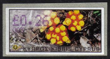 "Cyprus Stamps 078 Vending Machine Labels Type E 2002 Nicosia (003) ""Citinus Hypocistis"" 26 cent - MINT"