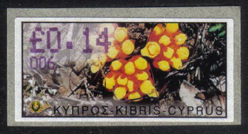 Cyprus Stamps 158 Vending Machine Labels Type E 2002 Paphos (006)