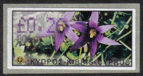 Cyprus Stamps 169 Vending Machine Labels Type E 2002 Paphos (006)