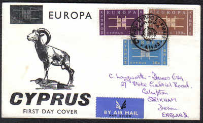 Cyprus Stamps SG 234-36 1963 Europa Emblem - Unofficial FDC (c302)