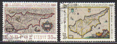 Cyprus Stamps SG 329-30a 1969 1st Cypriot Studies - USED (c273)