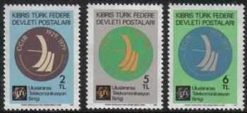 North Cyprus Stamps SG 082-84 1979 Radio - MINT