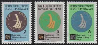 North Cyprus Stamps SG 082-84 1979 Radio - MINT