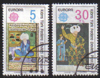 North Cyprus Stamps SG 091-92 1980 Europa - USED (L062))