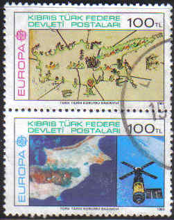 North Cyprus Stamps SG 134 MS 1983 Europa - USED (c313)