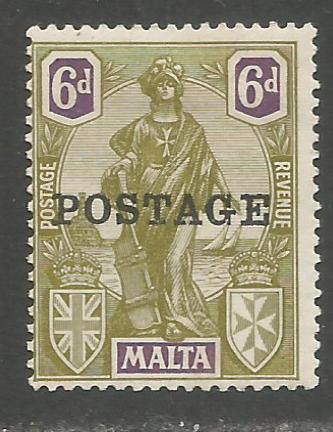 Malta Stamps SG 0151 1926 Overprints 6 penny - MH (h936)