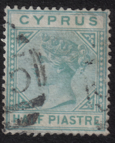 Cyprus Stamps SG 011 1881 Half Piastre - USED (h381)