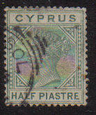 Cyprus Stamps SG 016a 1882 Half Piastre - USED (c780)