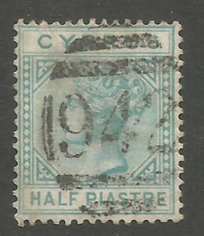 Cyprus Stamps SG 011 1881 Half Piastre - USED (h950)
