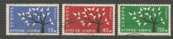 Cyprus Stamps SG 224-26 1963 Europa Tree - USED (h954)