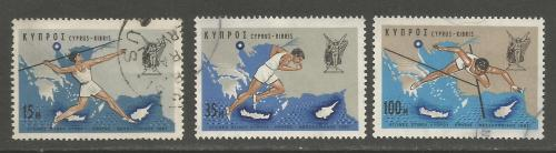 Cyprus Stamps SG 305-07 1967 Nicosia Games - USED (h957)