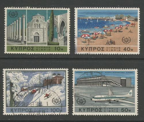 Cyprus Stamps SG 309-12 1967 Tourist Year - USED (h958)