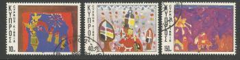 Cyprus Stamps SG 497-99 1977 Christmas - USED (h963)