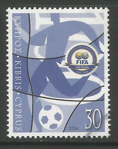 Cyprus Stamps SG 1069 2004 FIFA Centennial - USED (h970)
