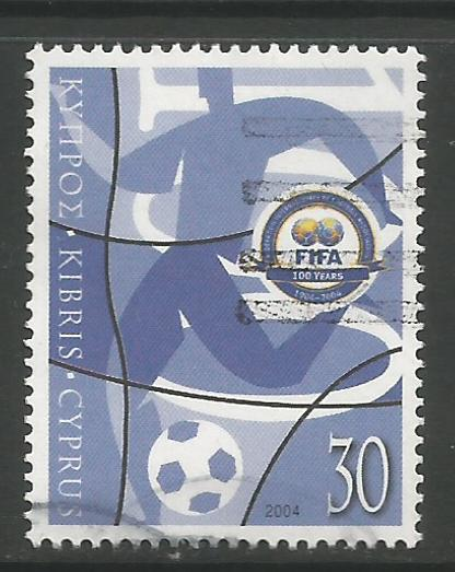 Cyprus Stamps SG 1069 2004 FIFA Centennial - USED (h971)