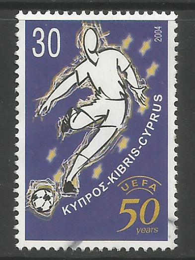 Cyprus Stamps SG 1070 2004 50th Anniversary of UEFA football - USED (h973)