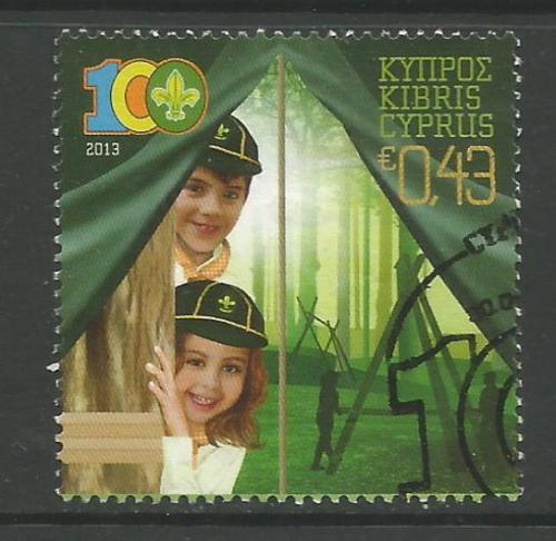 Cyprus Stamps SG 2013 (b) Cyprus Scouts Association Centenary - CTO USED (h
